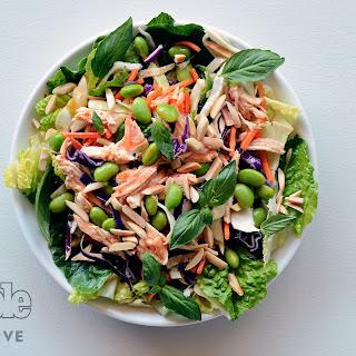 Chicken-Edamame Salad with Sweet Chili Vinaigrette.