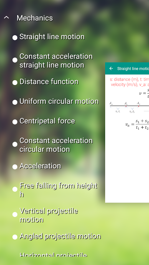 Physics Formulas- screenshot