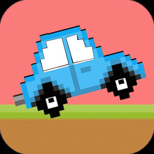动作のレトロなジャンパー車:高速道路フューリー LOGO-記事Game