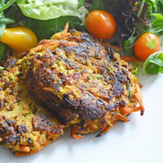 Spicy Carrot & Zucchini Fritters {Gluten Free}.