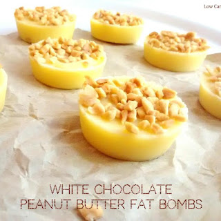 White Chocolate Peanut Butter Fat Bombs