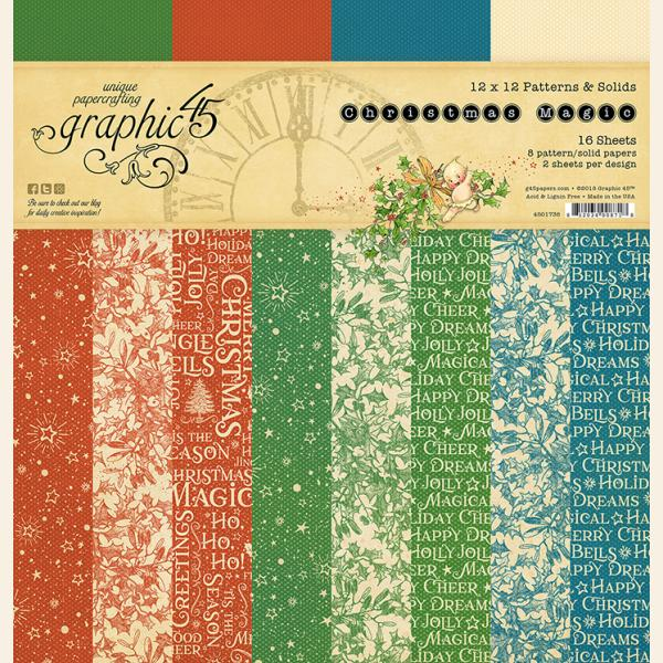 Christmas Magic Patterns & Solids Pad