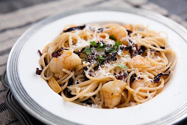 Spicy Ancho Chile Shrimp And Pasta Recipe
