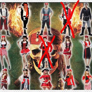 Halloween必備 cosplay服 (海盜服) 售價 : HKD 125~250  #halloween #cosplay #海盜