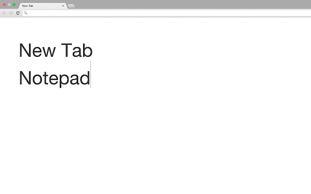 New Tab Notepad