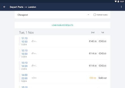 Captain Train: train tickets Screenshot 10