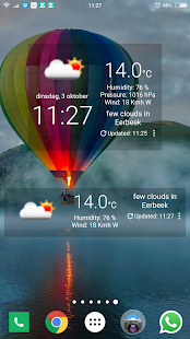 CJ Clock & Weather Widget and Forecast - náhled