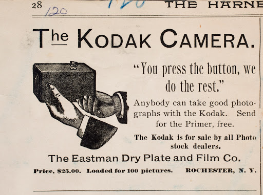 Advertisement for the Kodak camera