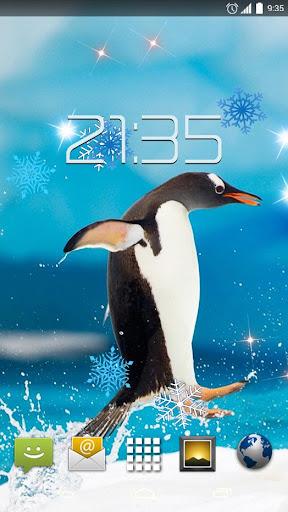 Arctic Ice Penguins 4K LIve