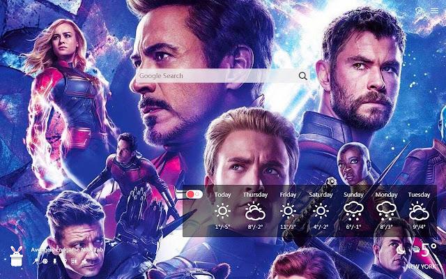 Avengers Endgame New Tab, Wallpapers HD