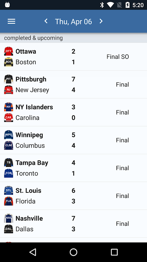 Sports Alerts - NHL edition- screenshot