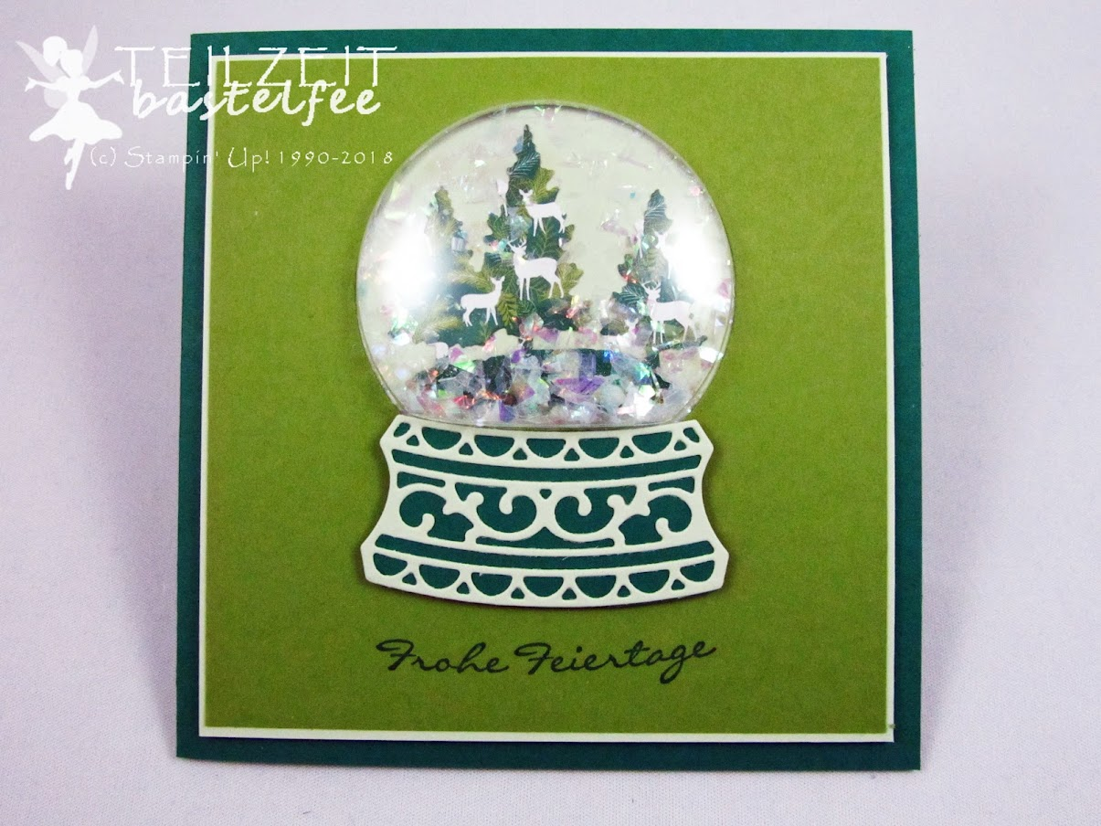 Stampin' Up! - Inkspire_me, Christmas, Weihnachten, Snow Globe, Schneekugel, Kling Glöckchen, Jingle all the Way, Grün, Green, Schüttelkarte