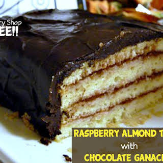Raspberry Almond Torte with Chocolate Ganache!.