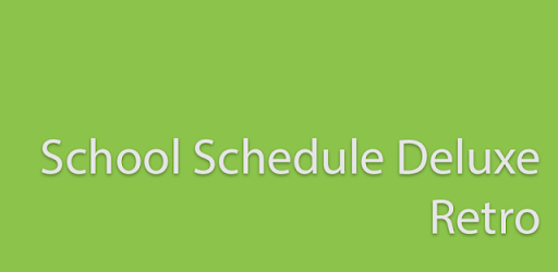 School Schedule Deluxe Retro