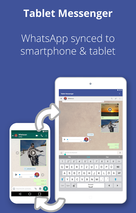 Tablet Messenger- screenshot
