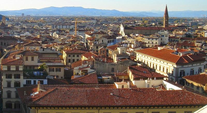 Вид на Флоренцию с колокольни Дуомо