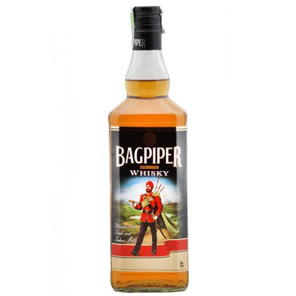 best-whisky-brands-india-Bagpiper-Price-Rs. 310 for 750 ml.