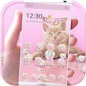 Pink Cat Theme Rose Gold Jewel