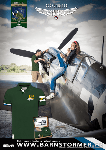 P40 polo curtiss made in france polo vert anglais barnstormer