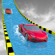Water Slide Extreme Car Racing Stunts