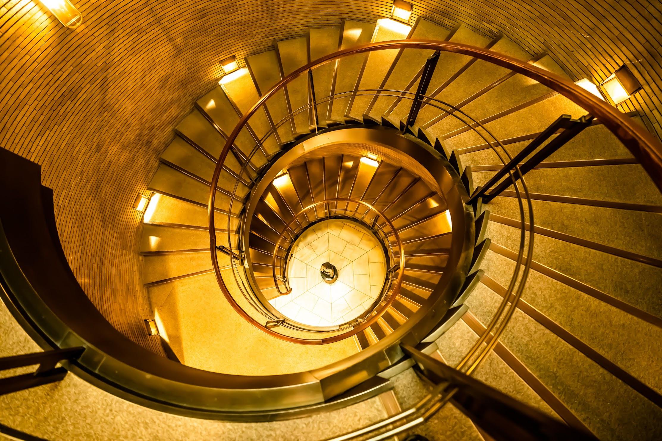 Spiral Staircases Asahi Plaza Umeda4