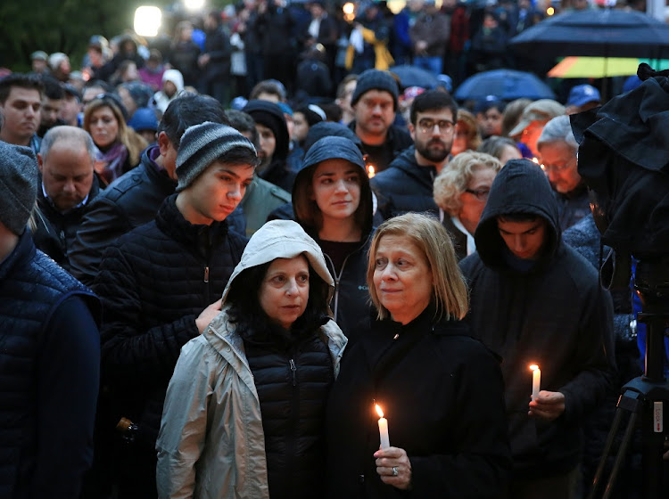 People mourn for the victims of Pittsburgh synagogue shooting in Pittsburgh, Pennsylvania, the US, October 27 2018. Picture: REUTERS