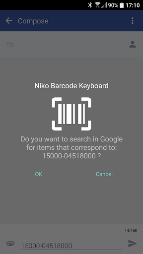Barcode & QR code Keyboard 7.2.7 screenshots 3