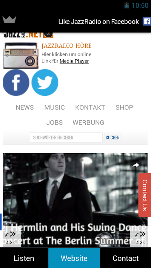 JazzRadio Berlin – Screenshot