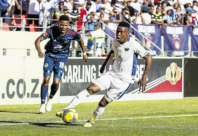 Zitha Macheke, right, feels that if Chippa United can get their defences in order they can win.