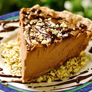 Easy Vegan Tofu Peanut Butter Pie.