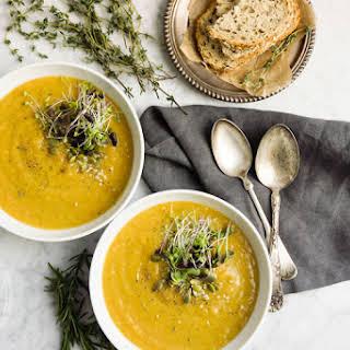 20 Min Potato And Leek Soup With A Twist (vegan).