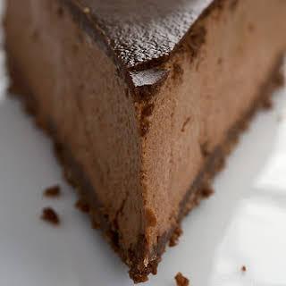 Chocolate-Glazed Hazelnut Mousse Cake.