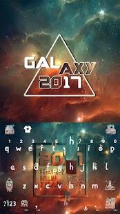 New Year Galaxy Kika Keyboard - náhled