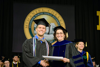Photo: Joseph Odierno, Biology major from Deale, Md., The H.P. Sturdivant Biology Award