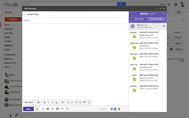 Marketo Insights for Google Chrome™