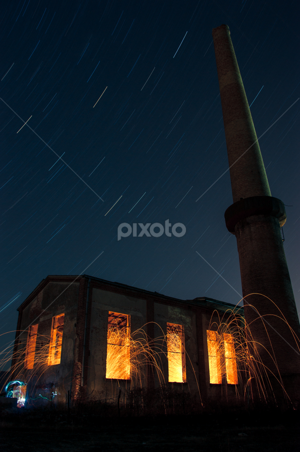 FireFactory by Игор Ђорђевић - Products & Objects Industrial Objects ( exposure, stars, night, long, fire )