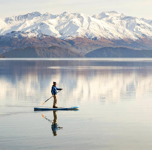 Allan Dixon (@daxon on Instagram) at daybreak in Wanaka, New Zealand.