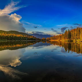 The Serene Lake by Matthew Clausen - Landscapes Waterscapes ( water, nature, blue, background, lake )