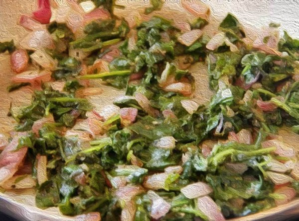 Stir in spinach, reduce heat to medium, and continue cooking until excess moisture has...