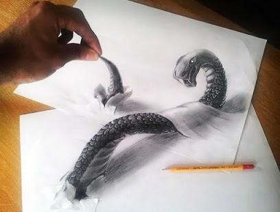 Latest 3D Art Drawing Pencil Ideas Screenshot Thumbnail