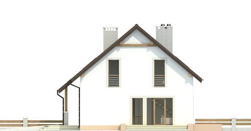 Turkawka z garażem 1-st. bliźniak A-BL1 - Elewacja prawa