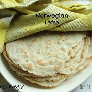 Norwegian Lefse {gluten free, vegan}