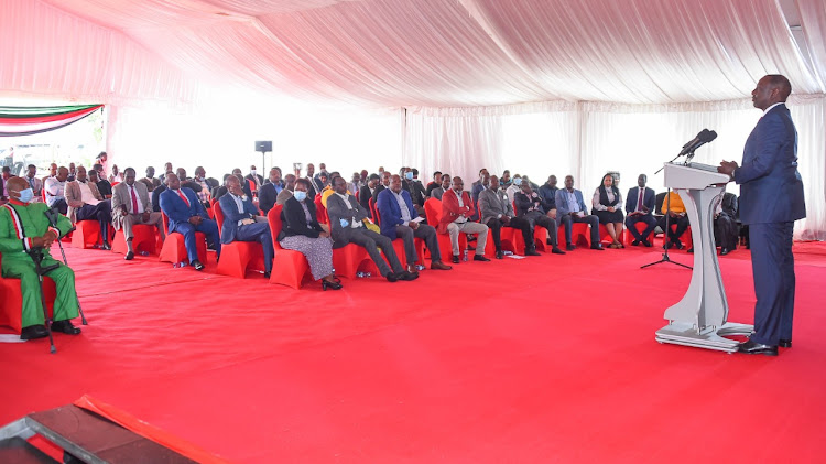 DP William Ruto hosts MPs allied to him from various political parties at Karen residence, Nairobi county, on February 8, 2021