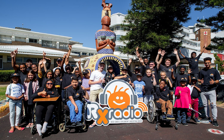 The RX Radio team at the Red Cross Children's Hospital in Cape Town.