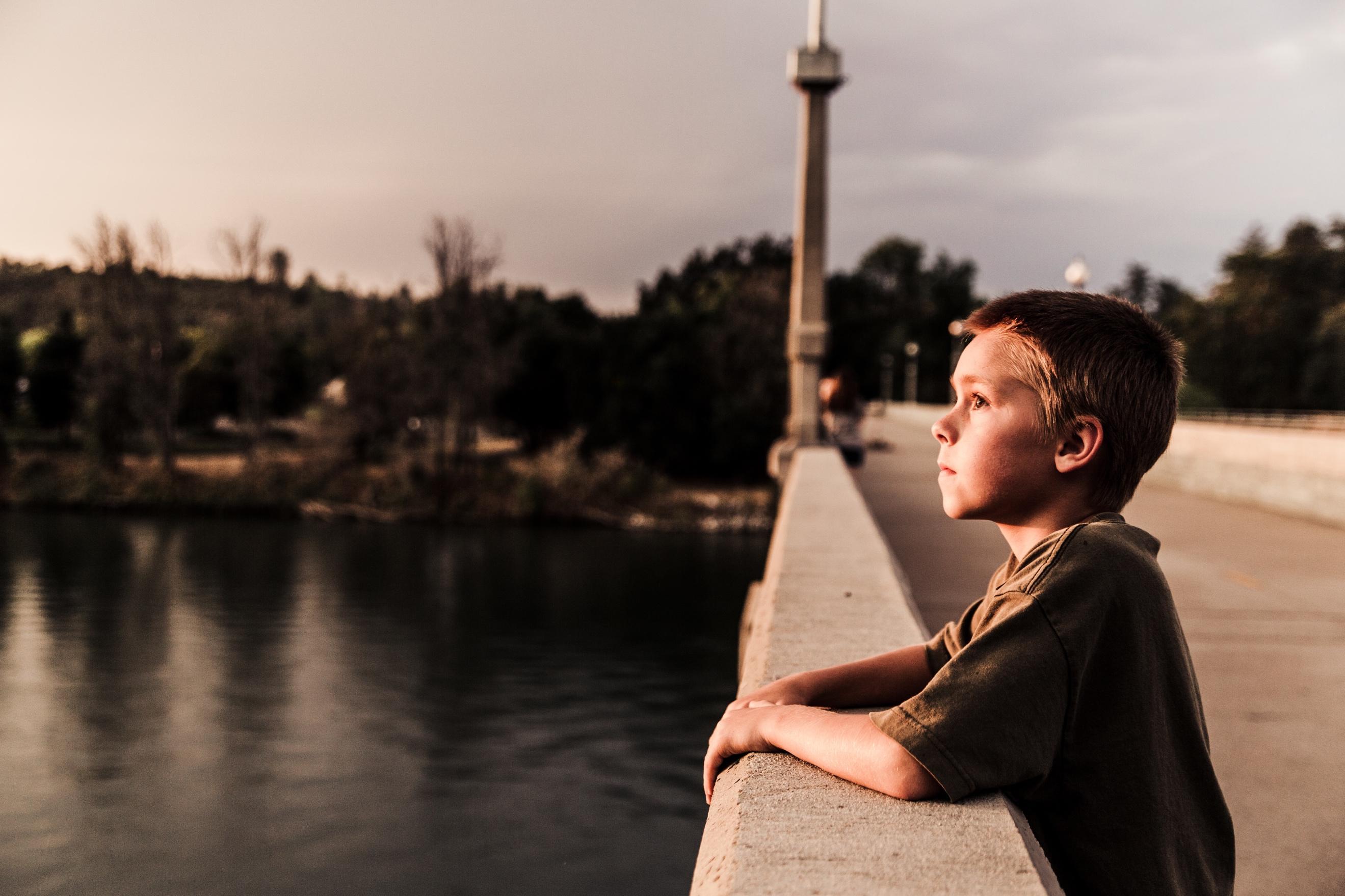 kid on bridge