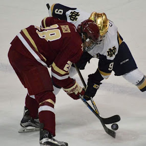 Notre Dame vs Boston college by Benny Lopez - Sports & Fitness Ice hockey ( hockey, notre dame, boston college )