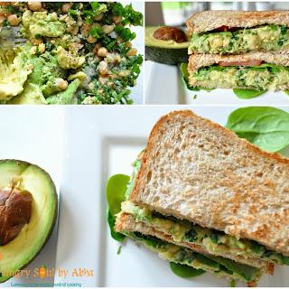 Smashed Chickpea & Avocado Salad Sandwich.
