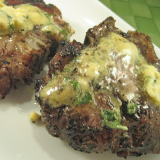 Grilled Lamb Chops with Dijon-Basil Butter.