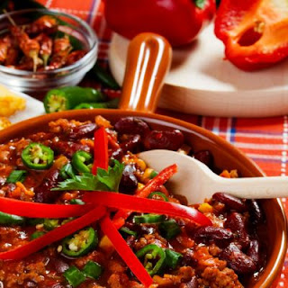 Spicy Slow Cooker Beef Chili.