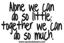 Photo: EPX Body Teamwork Slogan